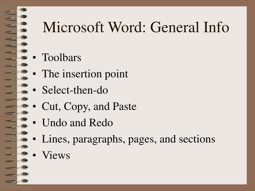 Microsoft Word: General Info