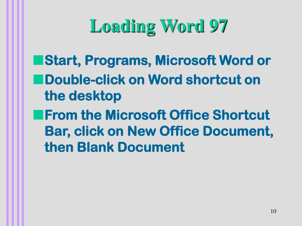 Loading Word 97