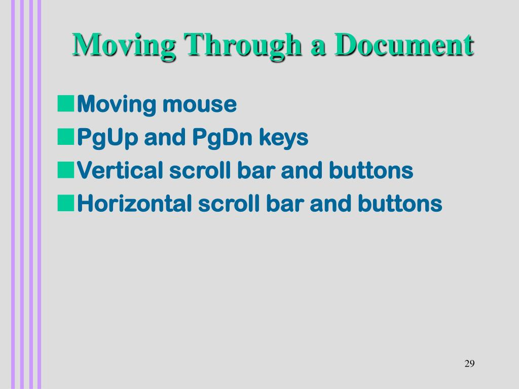 Moving Through a Document