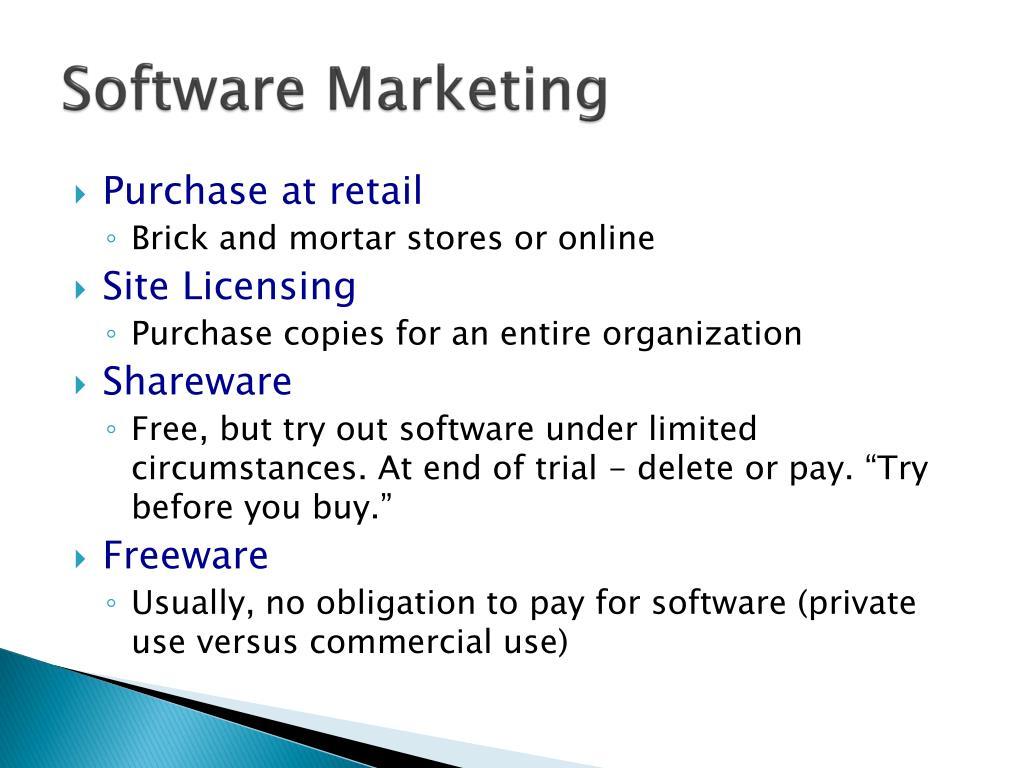 Software Marketing