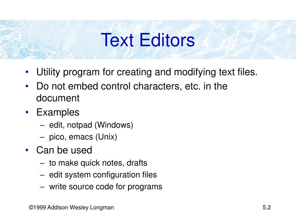 Text Editors