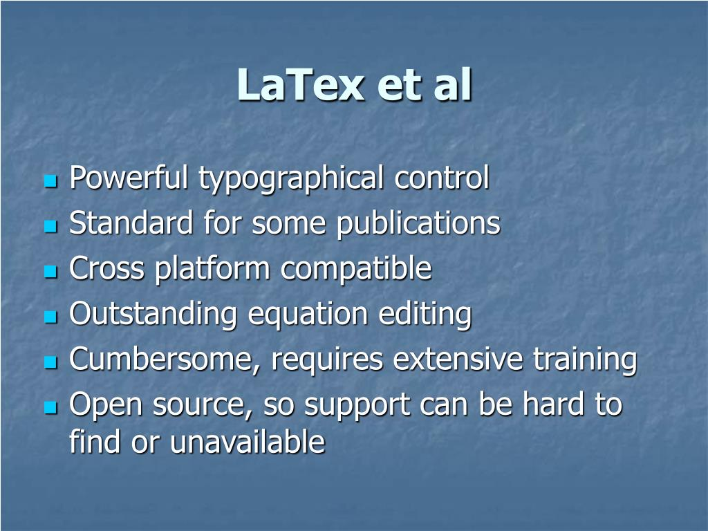 LaTex et al