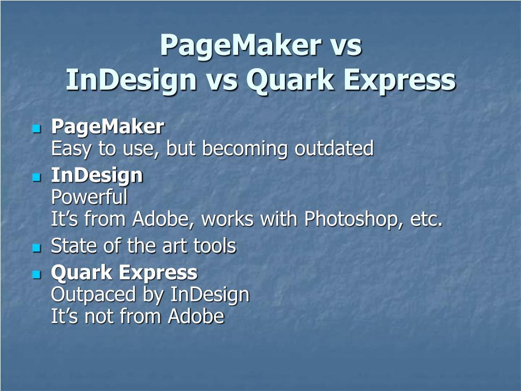 PageMaker vs