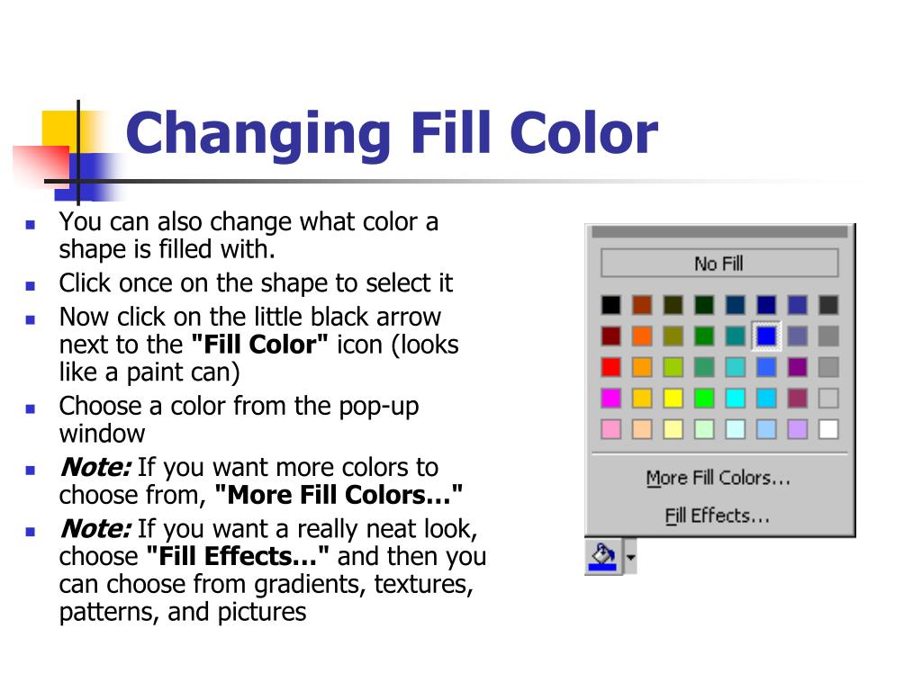 Changing Fill Color