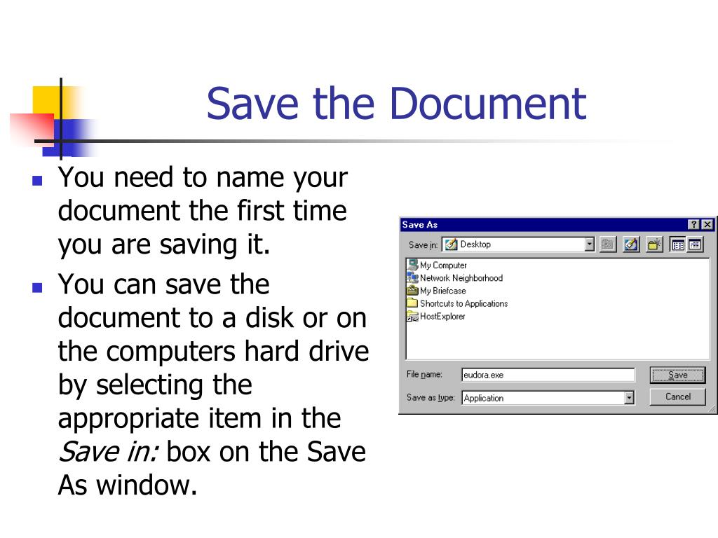 Save the Document