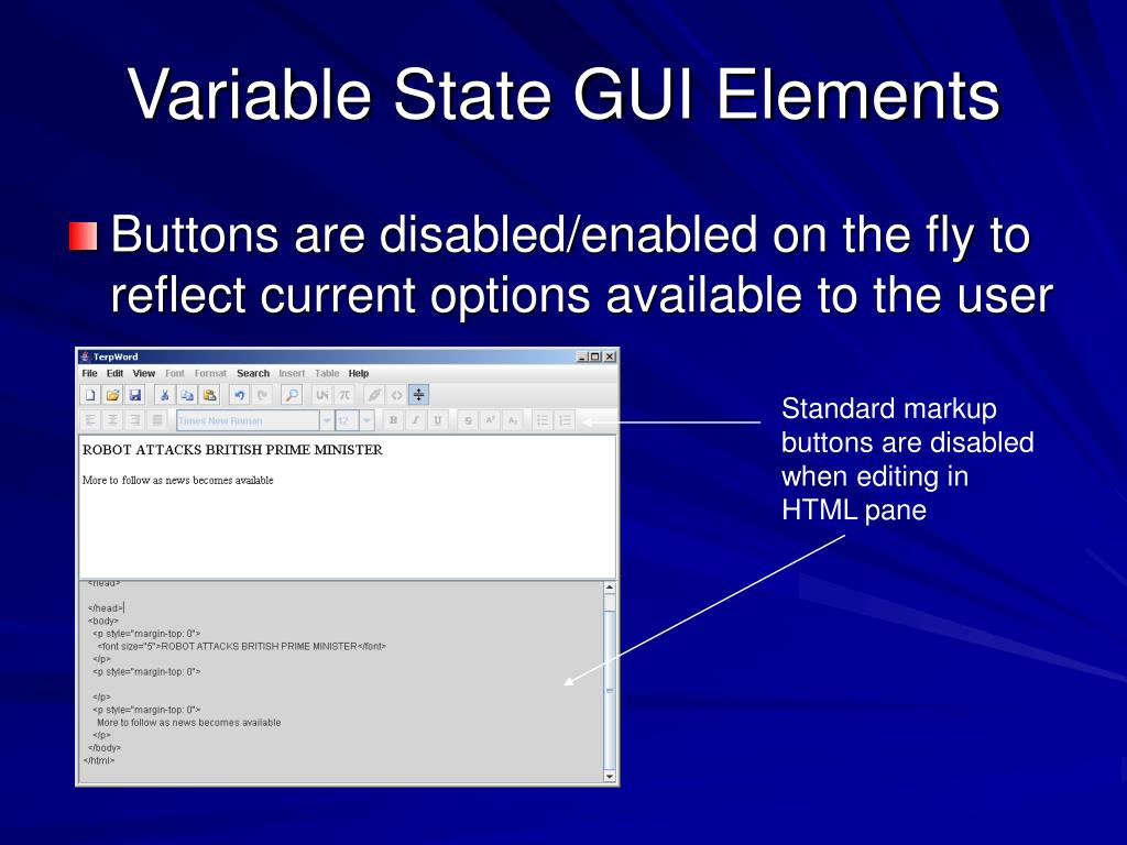 Variable State GUI Elements