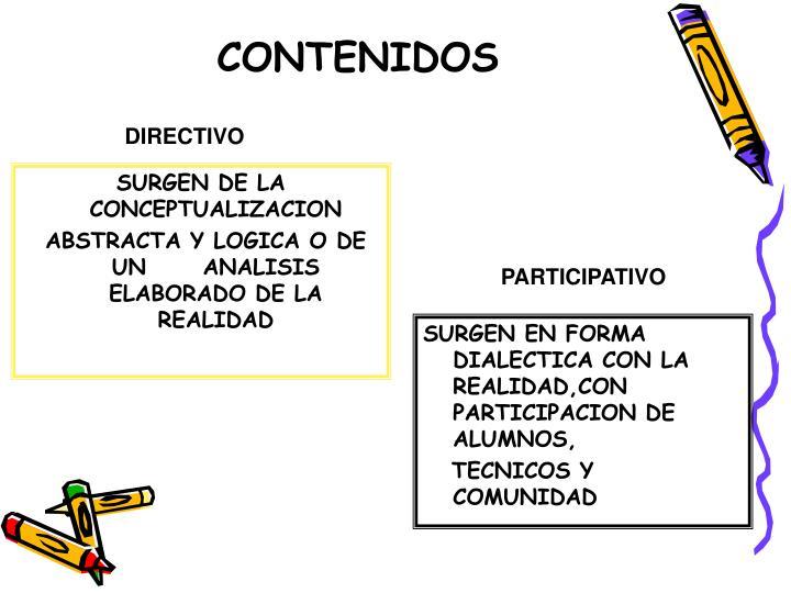 SURGEN DE LA CONCEPTUALIZACION