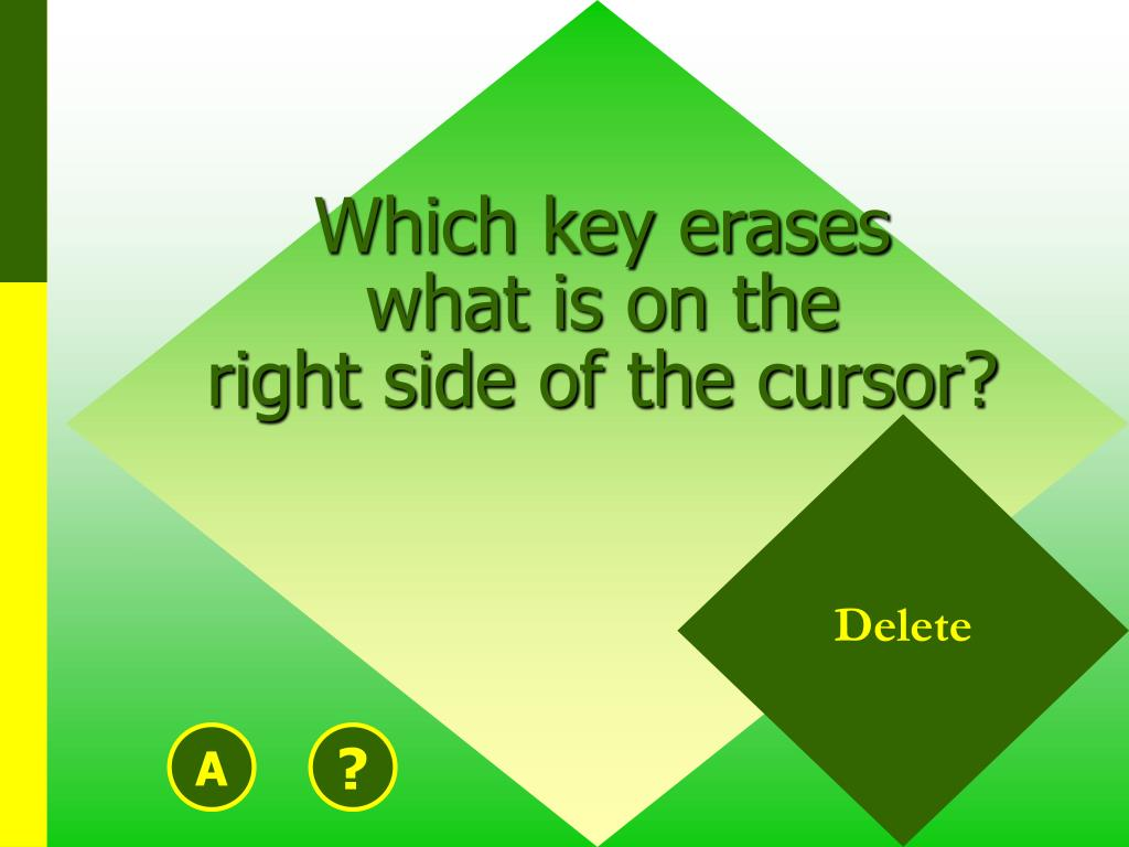 Which key erases