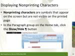 displaying nonprinting characters