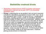statisti ka vrednost ivota