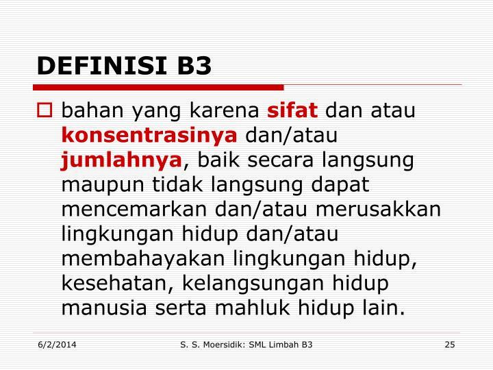 DEFINISI B3