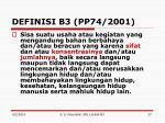 definisi b3 pp74 2001