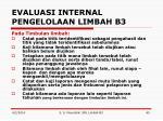 evaluasi internal pengelolaan limbah b33