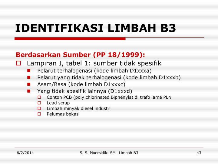IDENTIFIKASI LIMBAH B3