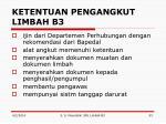 ketentuan pengangkut limbah b3