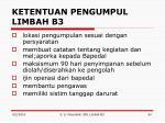 ketentuan pengumpul limbah b3