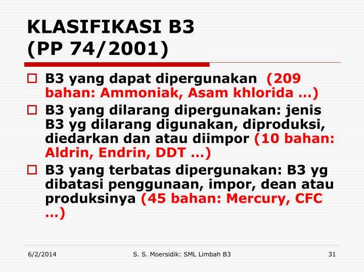 KLASIFIKASI B3