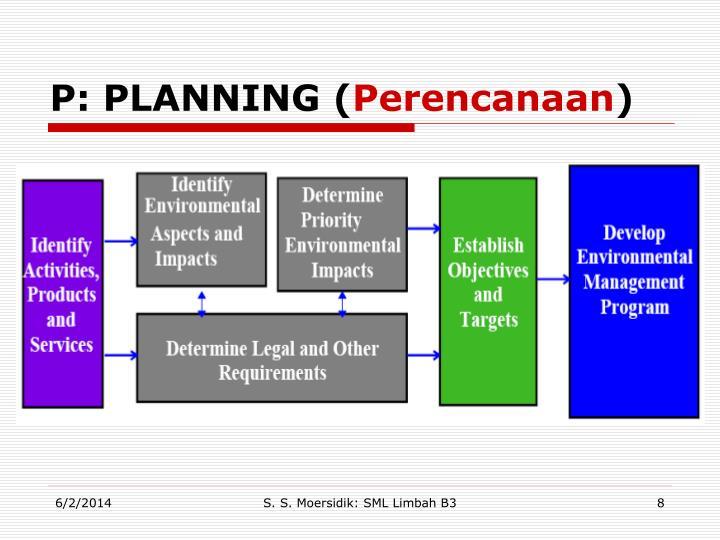 P: PLANNING (