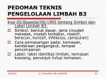 pedoman teknis pengelolaan limbah b34