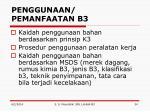 penggunaan pemanfaatan b3