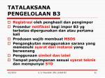 tatalaksana pengelolaan b3