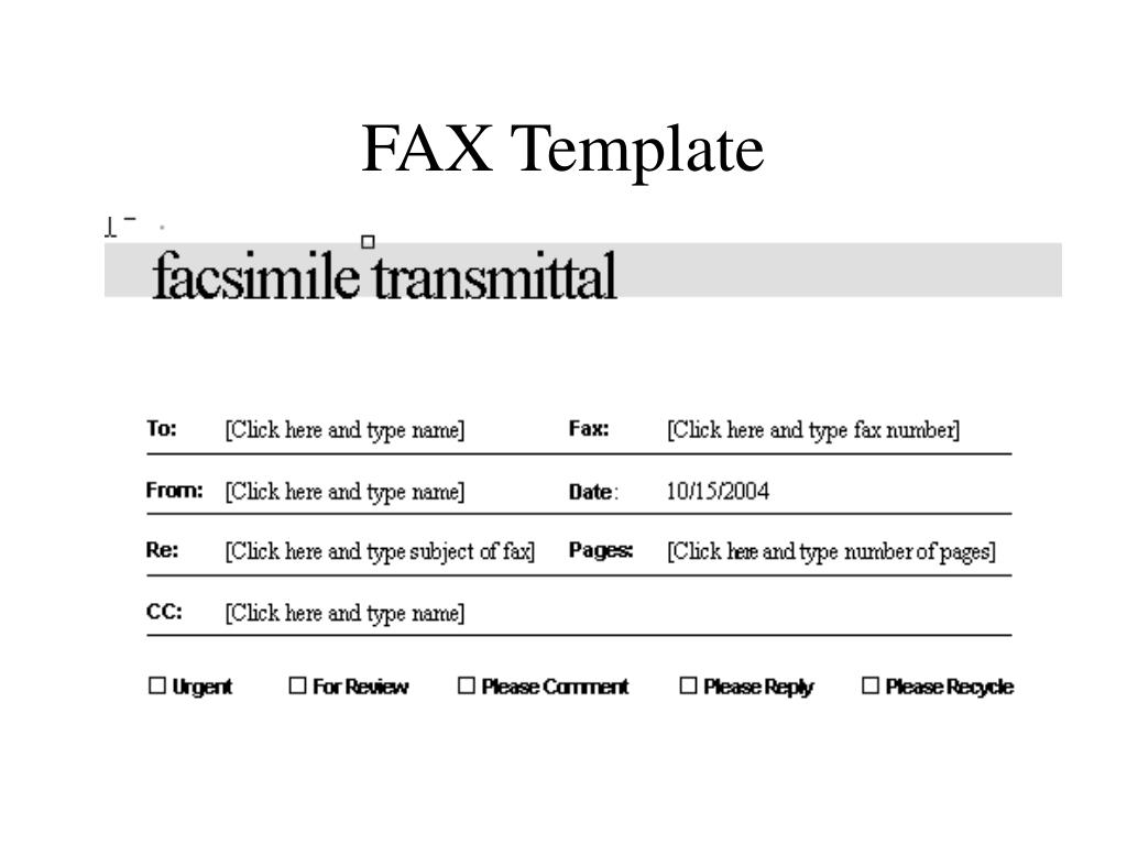 FAX Template