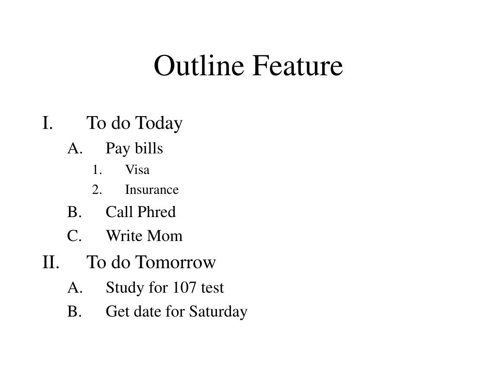Outline Feature