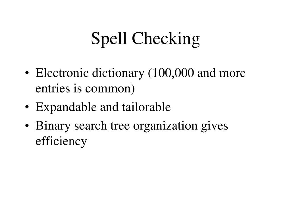 Spell Checking