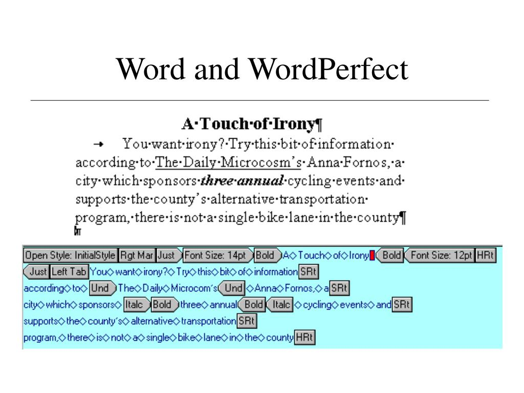 Word and WordPerfect