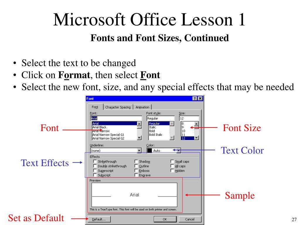 Microsoft Office Lesson 1