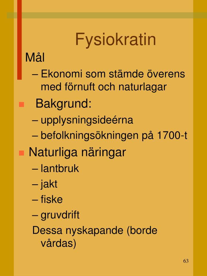 Fysiokratin