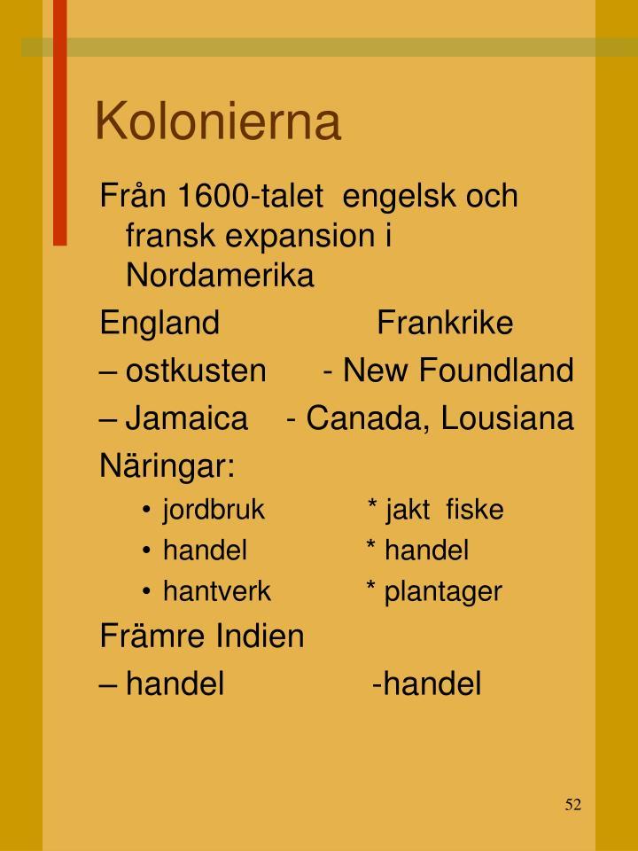 Kolonierna