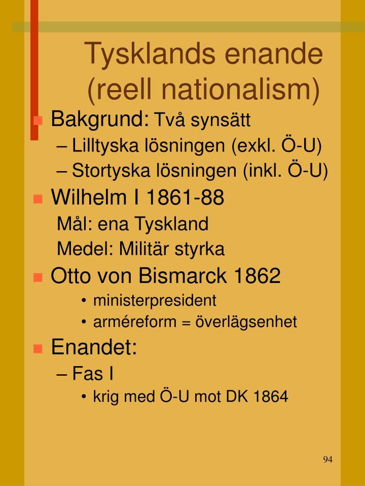 Tysklands enande (reell nationalism)