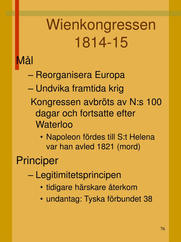 Wienkongressen 1814-15