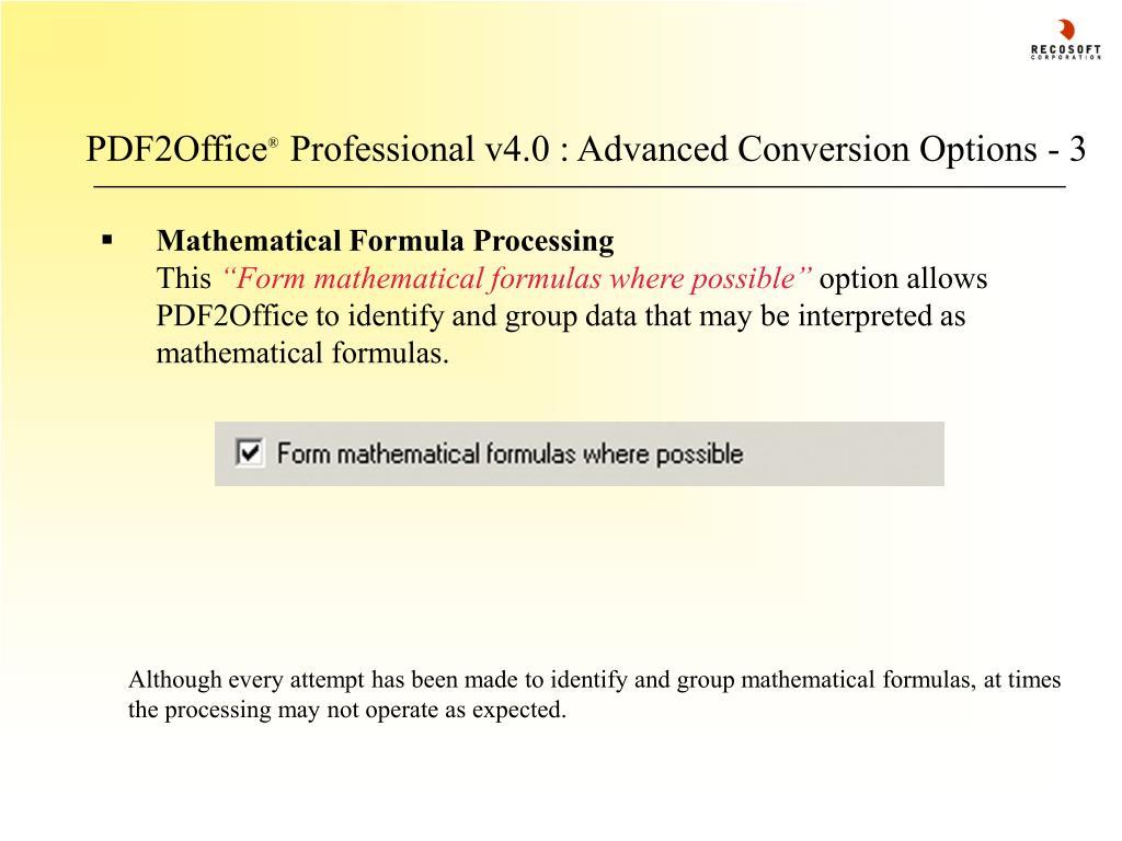 PDF2Office