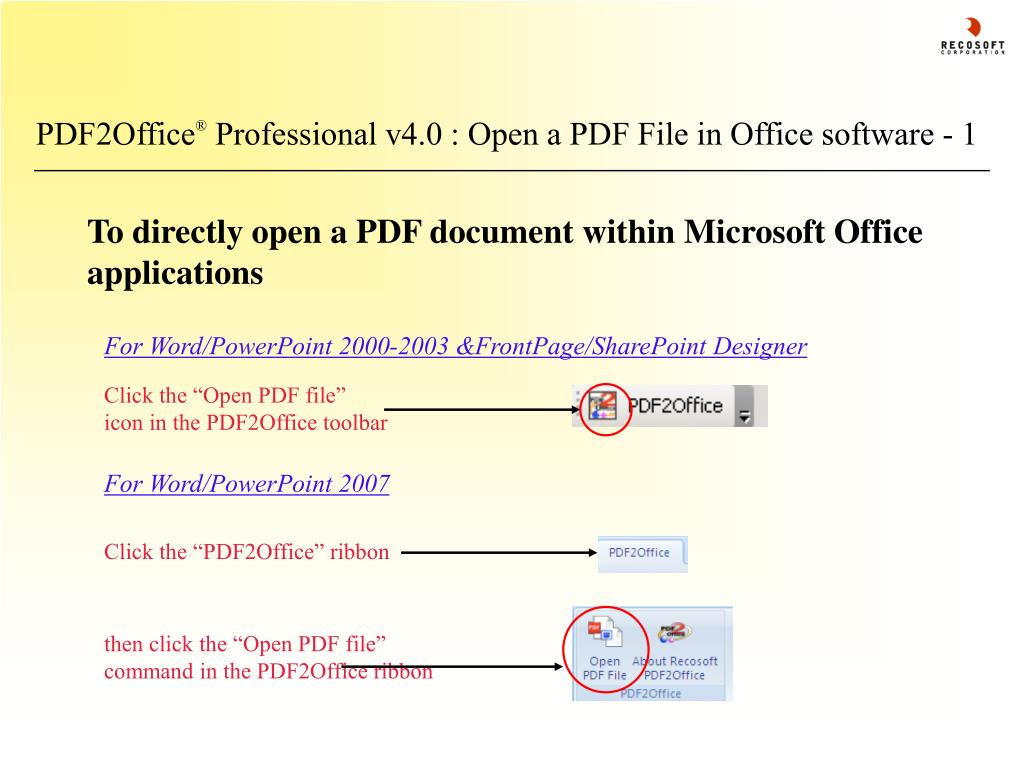 For Word/PowerPoint 2000-2003 &FrontPage/SharePoint Designer