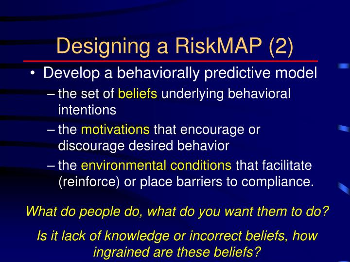 Designing a RiskMAP (2)