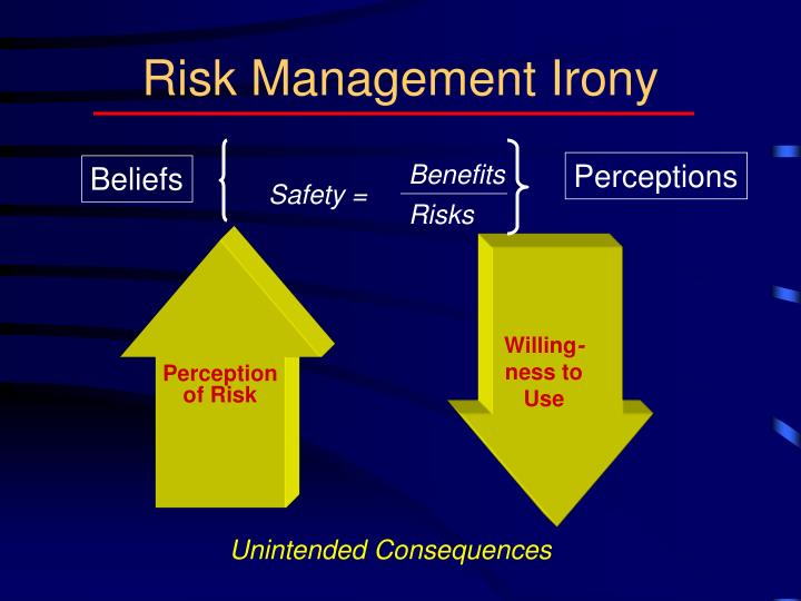 Risk management irony