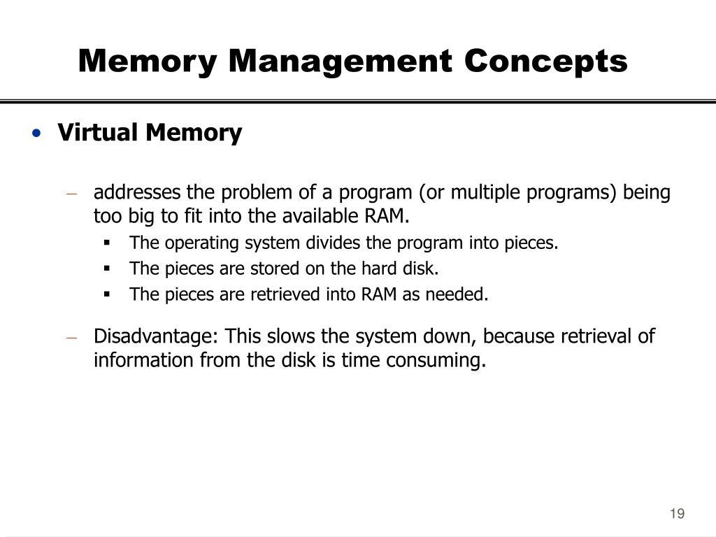 Memory Management Concepts