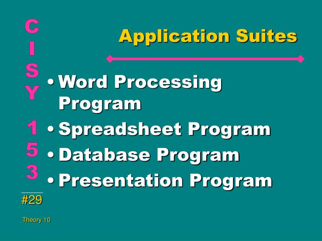 Application Suites