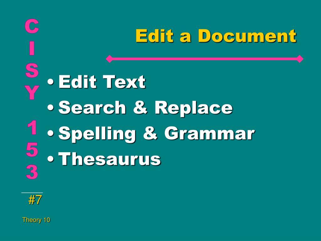 Edit a Document