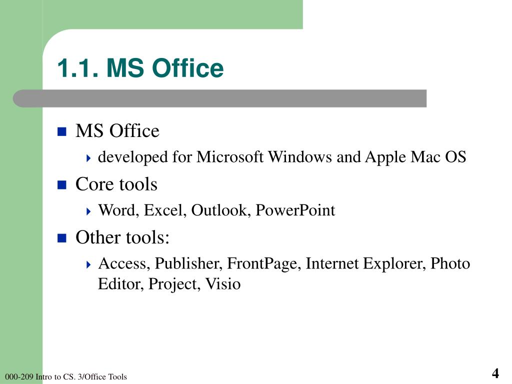 1.1. MS Office