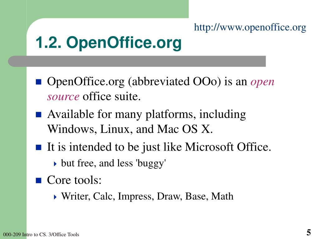 1.2. OpenOffice.org