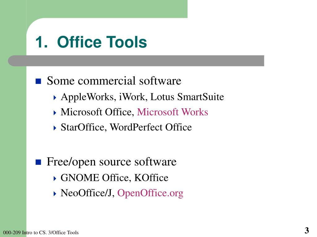 1.  Office Tools