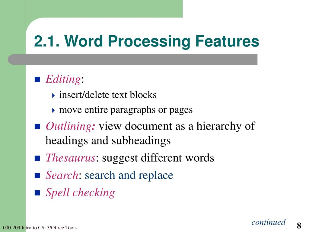 2.1. Word Processing Features