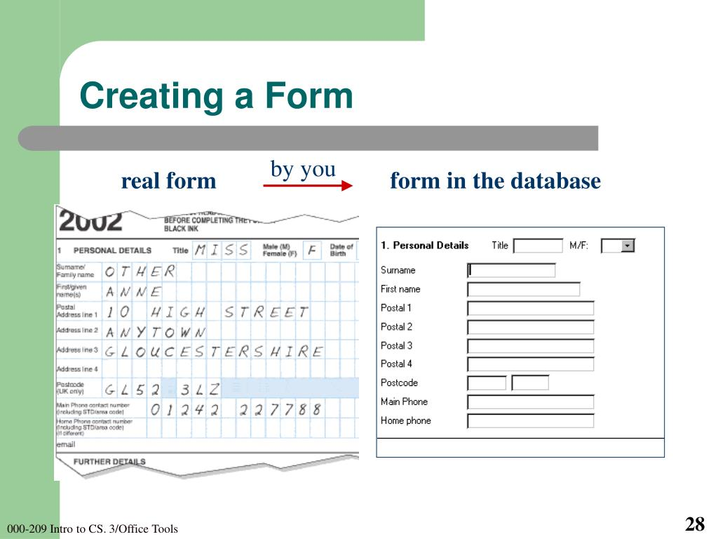 Creating a Form