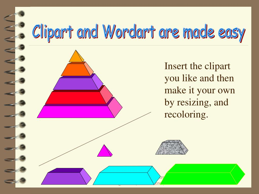 Clipart and Wordart are made easy