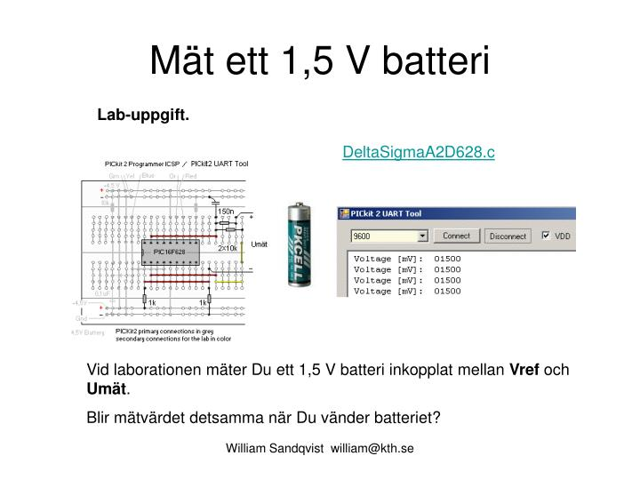 Mät ett 1,5 V batteri