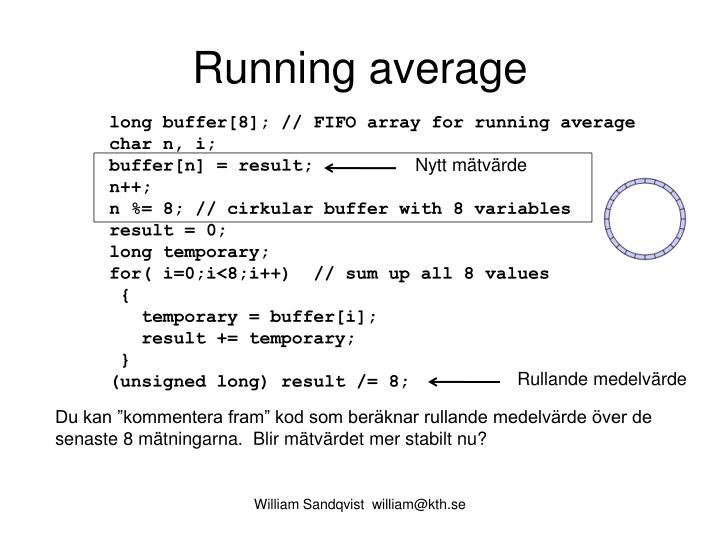 Running average