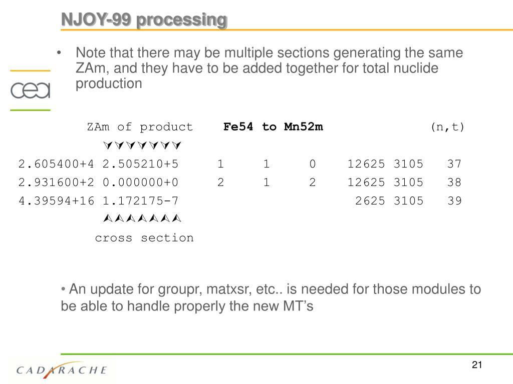 NJOY-99 processing